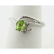 Peridot Sterling Silver Swirling Ring