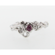 Rose Garden Ring, Sterling Silver & Pink Sapphire
