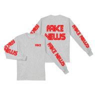 Fake News CNN Longsleeve T-Shirt Grey