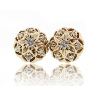 Bisnonna Earrings, Yellow Gold & Diamonds