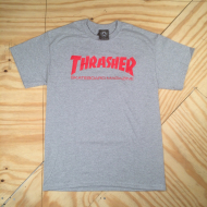 Skate Mag Logo T-Shirt Grey / Red