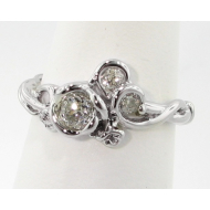 Rose Garden Ring, White Gold & Diamond, Full Bloom