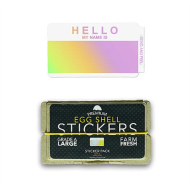 Eggshell Sticker Pack - Hello My Name Hlgrm - 50pk