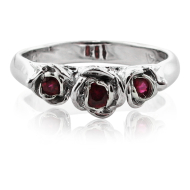 Ruby White Gold Ring, Trieste Roses II