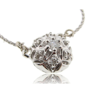 Bisnonna Pendant, Diamond & White Gold