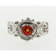 Victorian Ring a la Rose: Sunset Topaz & Silver