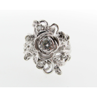 Jane Rose Ring - White Gold & Moissanite