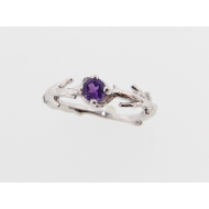Delicate Sterling Bough, Amethyst