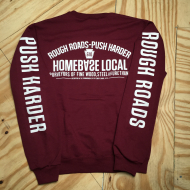 Rough Roads Crewneck Sweatshirt Burgundy