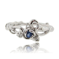 Rose Garden Ring, Sapphire & Sterling Silver