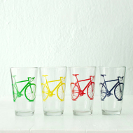 Bicycle Pint Glass