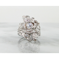 Diamond White Gold Wedding Ring Set, Jane Rose