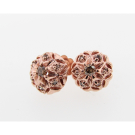 Bisnonna Earrings, Rose Gold & Cognac Diamonds