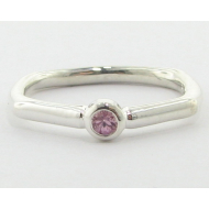 Almost Square, Sterling Silver & Pink Sapphire