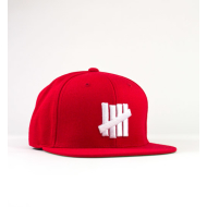 Undefeated 5 Strike Snapback - Red