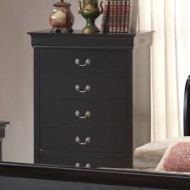 5934-30 BLACK  5 DRAWER CHEST