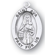 "7/8"" Sterling Silver Oval Medal"