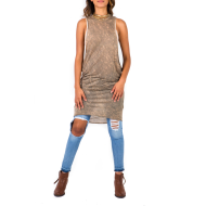LEE TANK DRESS PLUNGING ARMHOLE