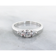 Diamond White Gold Ring, 0.52ct, Three Stone