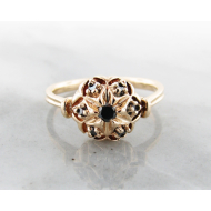 Black Diamond Yellow Gold Ring, Bisnonna