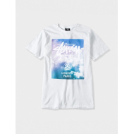 Stussy World Tour Clouds T-Shirt - White