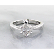 Diamond White Gold Solitaire, Wexford Standard, Pear