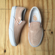 Classic Slip On Peach/ Metallic dots