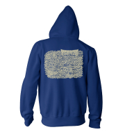 Bethlehem Map Zip Hoody Navy