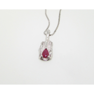 Ruby Silver Pendant, Melted