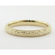 Yellow Gold Band, Vintagey