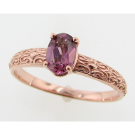Decorative Garnet Ring in 14k Rose Gold