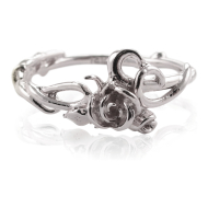 Rose Garden Ring, White Gold