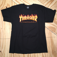 Flame Logo T-Shirt Black