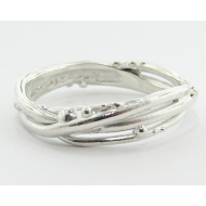 Bird's Nest Band, Sterling Silver
