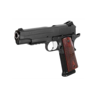 "SIG SAUER 1911R .45ACP 5"" NIGHT SIGHTS, ROSEWOOD GRIPS, TAC RAIL 2 MAGAZINES"