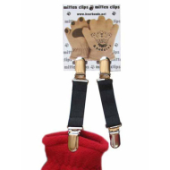 Bear Hands & Buddies Infant Black Mitten Clips