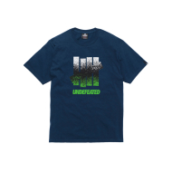 Undefeated Splatter 5 Strike T-Shirt - Navy