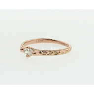 Rose Gold Diamond Band, Vintagey, Marquise