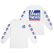 Fake News FOX Longsleeve T-shirt White