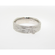 Medium Birch Band, Sandblasted Sterling