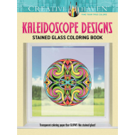 CREATIVE HAVEN KALEIDOSCOPE DESIGNS STAINED GLASS COLOURING BOOK