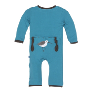 Kickee Pants Applique Coverall Bay Sandpiper