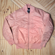 Flight Satin Bomber Jacket Peach