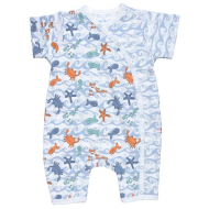 Under the Nile Side Snap Romper Under the Sea