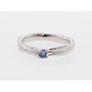 Tanzanite Silver Band, Skinny Melted