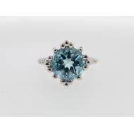 Princess Ring, Sky Blue Topaz, Sterling Silver