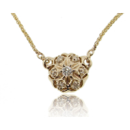 Bisnonna Pendant, Yellow Gold & Diamond