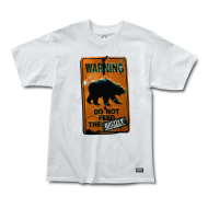 Grizzly Do Not Feed The Bears T-Shirt - White