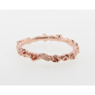Rosebud & Leaf, Rose Gold