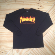 Flame Logo LS T-Shirt Black